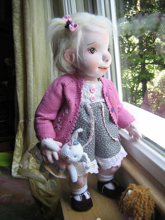 BLANCHE  20 inch Cloth Doll Handmade Cloth Doll by MaryUniqueDoll