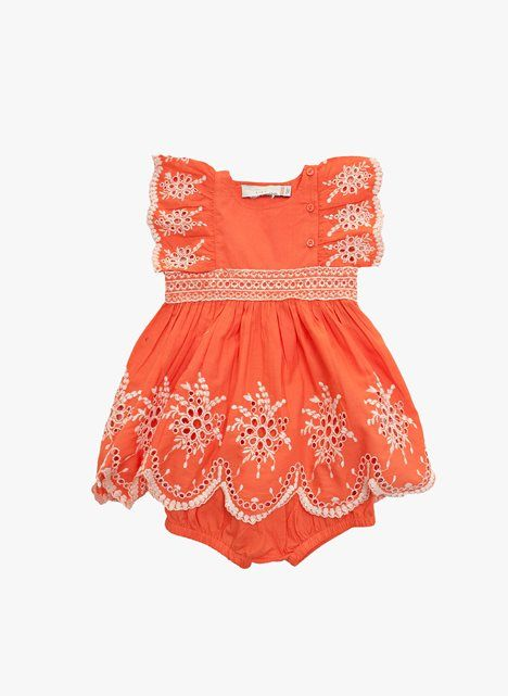 Stella McCartney Kids Foxglove Baby Girl Eyelet Dress