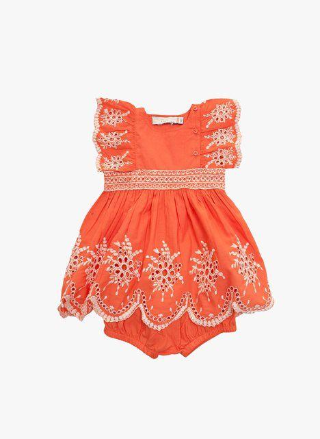 Stella McCartney Kids Foxglove Baby Girl Eyelet Dress