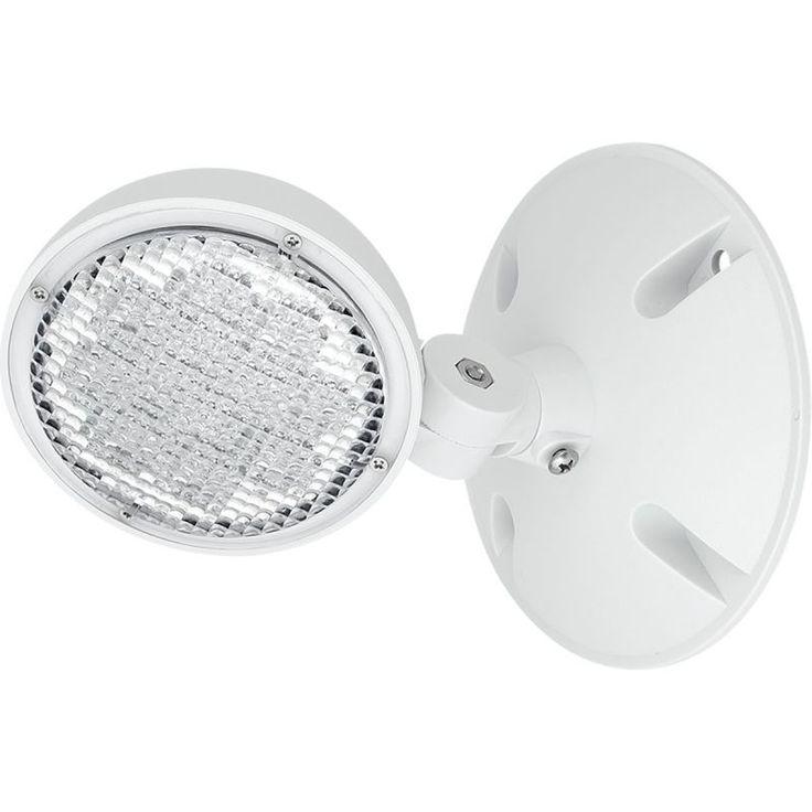 Progress Lighting PERHC-SG-OD-30 Single Head LED Outdoor Flood Light - Remote Op White Outdoor Lighting Flood Lights NULL