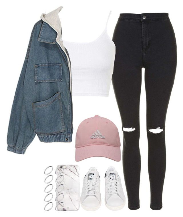 """Sem título #1080"" by isacris-28 ❤ liked on Polyvore featuring Topshop, adidas Golf, adidas and ASOS"