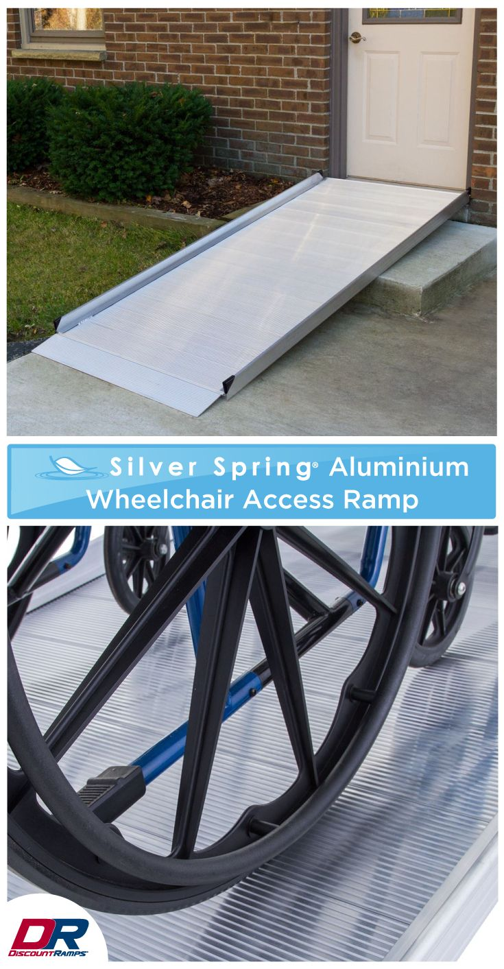 This semi-permanent wheelchair ramp is designed for residential use and can easily be moved or relocated as needs change. This ramp features seamless construction and a slip resistant surface. It is durable, weather-proof, and will not rust or rot, guaranteeing years of use.