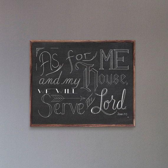 Quanto a Me e la mia stampa House Giosuè 24:15 per di CornerChair