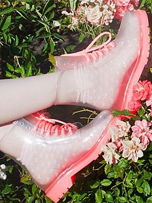 clear-transparent-pvc-rain-boots.jpg (300×399) | Pink Flamingos ...
