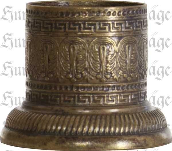 Säulenoberteil, Messing patiniert, Innen: 23mm, Außen: 37mm, Kapitell Messing antike