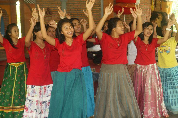 Praticing Indian dance