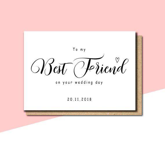 To My Best Friend On Your Wedding Day Card Best Friend Wedding
