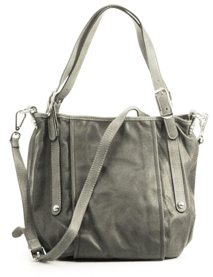 And 10, lederen damestas met verstelbare schouderriem, de tas is afsluitbaar met rits. Mogelijk in 35 verschillende kleuren leer.