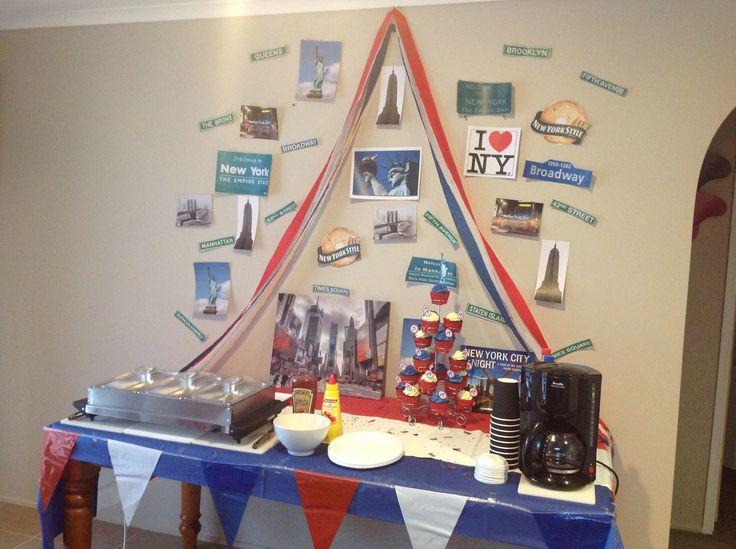 New York theme party, with hot dogs and coffee, for my wonderful husband Adam's 42nd birthday.