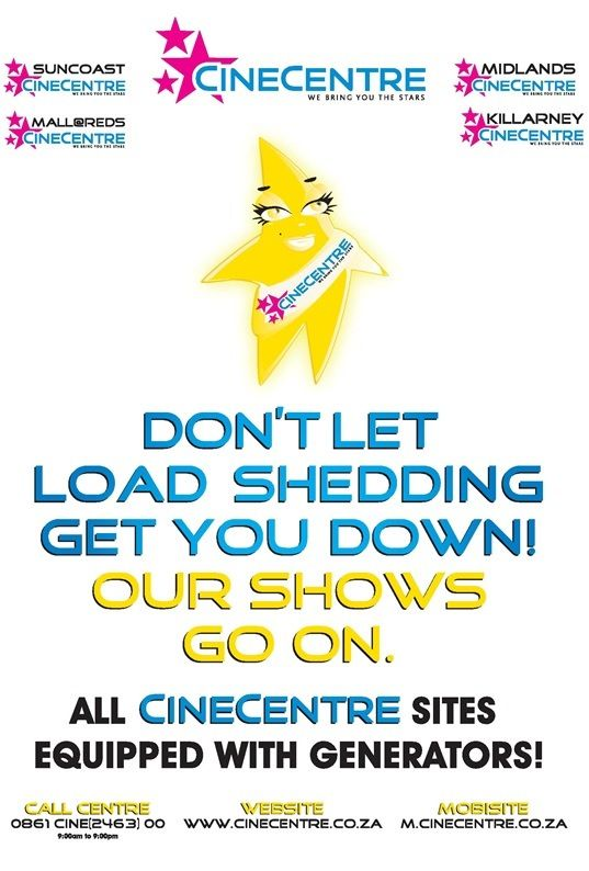 No #loadshedding @CINECENTRE - All our sites equipped with generators
