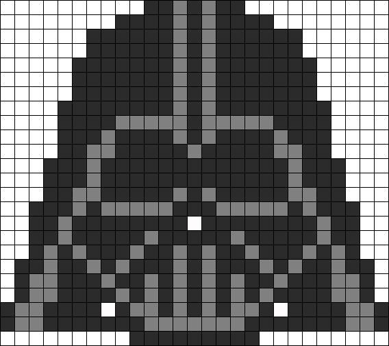 Star Wars Darth Vader perler bead pattern. May try this with granny squares.