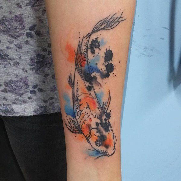 Watercolour Fish Tattoo By Marie Melou At Otautahi Tattoo