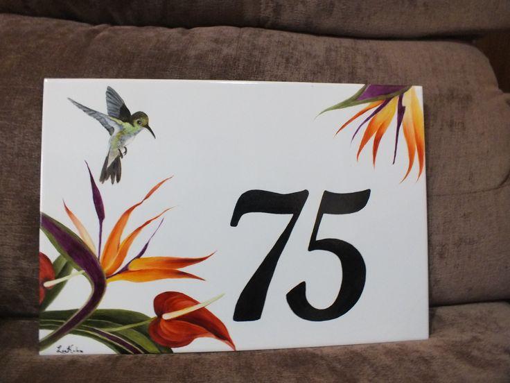 número residencial pintado por Lia
