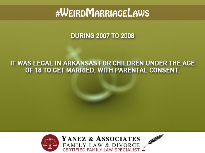 14 best weird marriage laws images on pinterest orange county weirdmarriagelaws in arkansas legally children under 18 could marry with their solutioingenieria Images