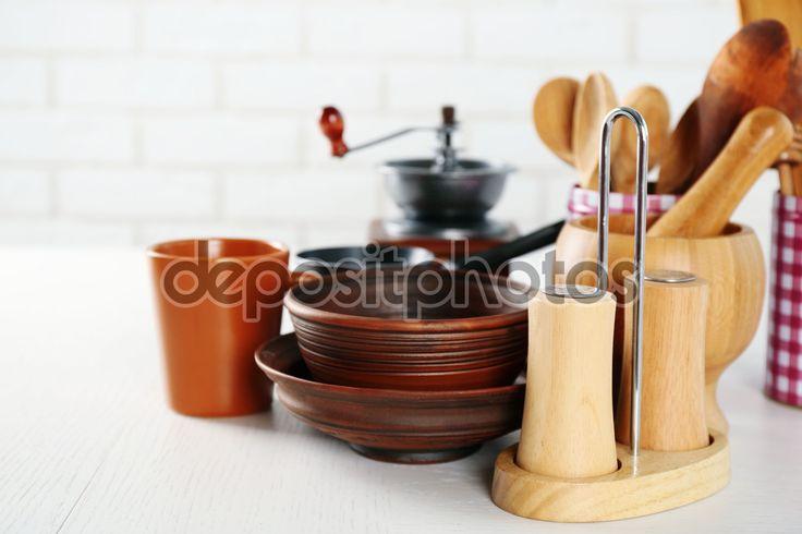 Композиция с различными кухонными принадлежностями — стоковое изображение #82963196
