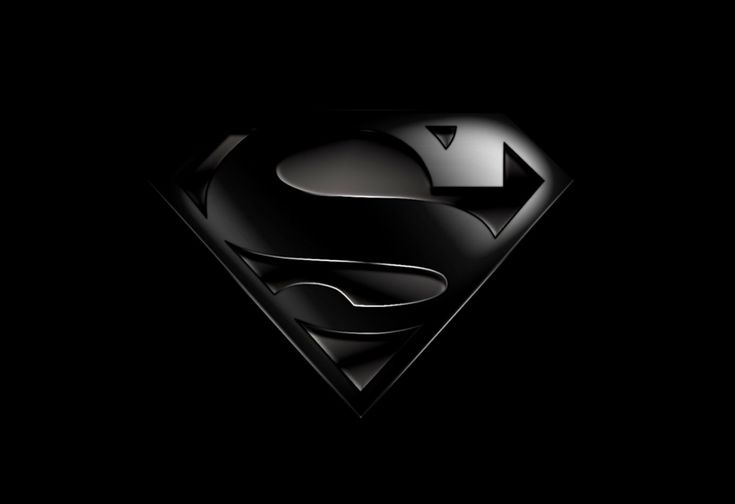 Superman Logo Wallpaper Black | Full HD Wallpapers