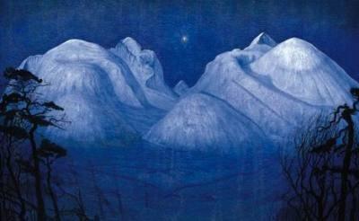 Vinternatt i Rondane by Harald Sohlberg
