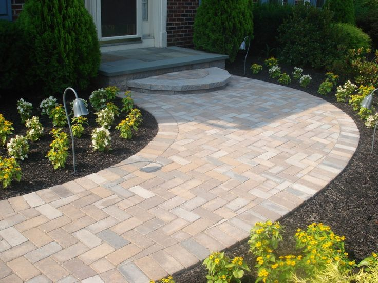 56 best images about front walkway on pinterest concrete for Landscaping front steps