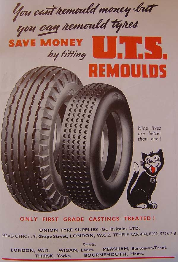Remould tyres from Union Tyre Suppliers (Gt. Britain) Ltd