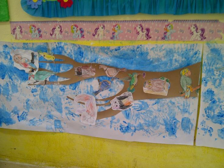 """mural """"los pajaros"""""""