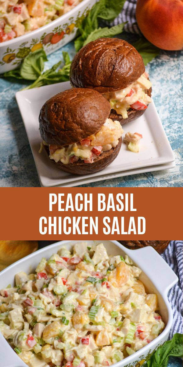 Peach basil chicken salad is the chicken salad recipe you need in your life this summer. Bursting with sweet ripe peache…