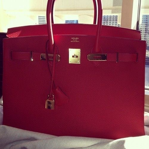 Red Hermes Birkin Bag