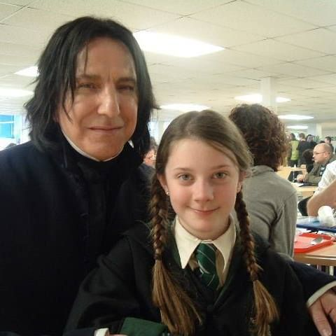Alan on the Harry Potter set with his second cousin