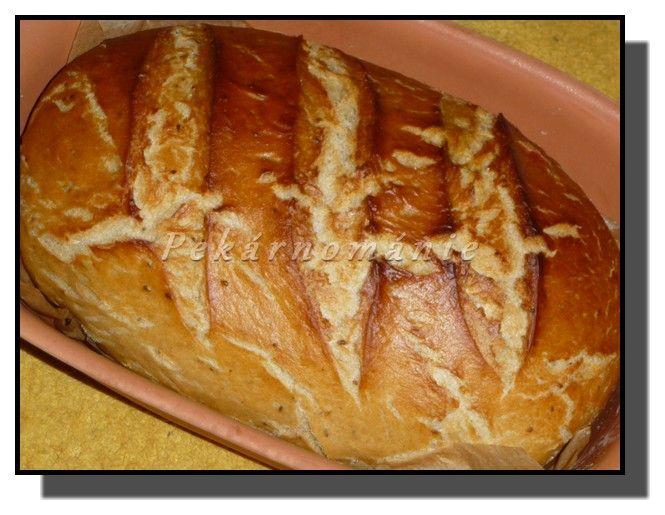 Podmáslový chleba z římského hrnce