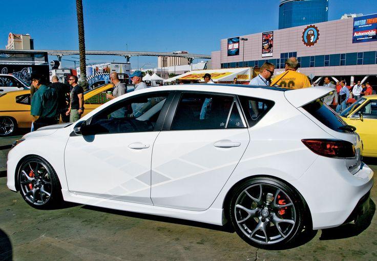 Tuning Mazda3 Sema 2010 White Color Modification Of Cars