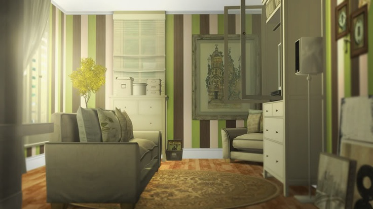 Classic living room sims 3 design inspirations for Sims 3 living room ideas
