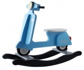 Blue Junior In Progress (J.I.P.) Vespa Scooter Rocker - J.I.P. makes fun decor and accessories for babies and kids. Hatched in Amsterdam in 2009, J.I.P. 's products are designed to make the whole family smile.