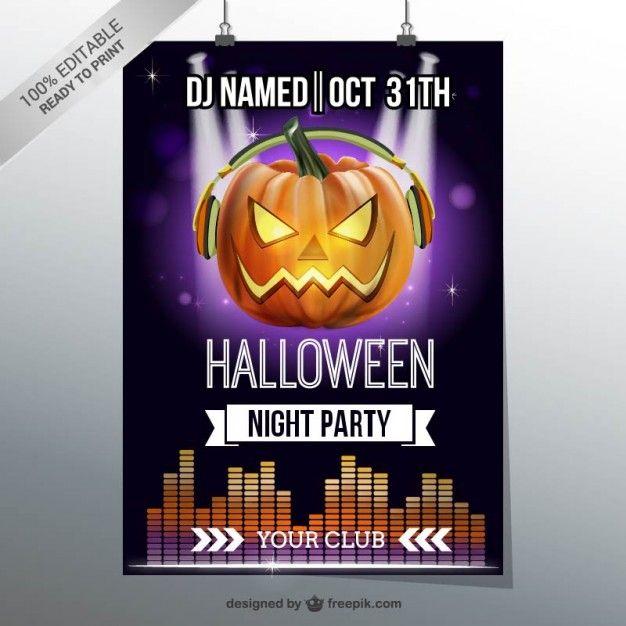 65 best Halloween images on Pinterest Vectors, Halloween vector - halloween party flyer