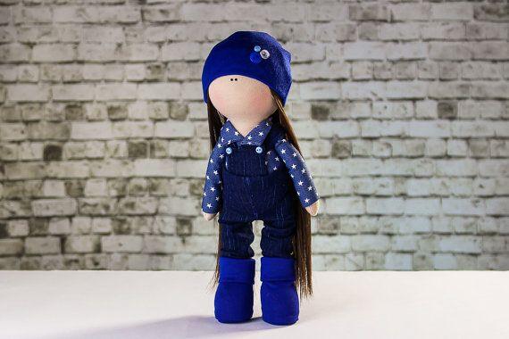 Doll Laura. Tilda doll. Textile doll. Soft toy. Cute by OwlsUa