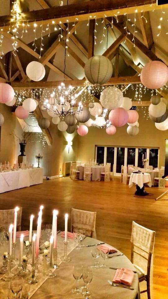 We love this Vintage Glamour wedding lanterns look by House of Bunting, Gloucs. Use pink, ivory and dove grey wedding lanterns to recreate at your wedding.