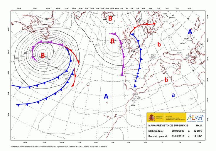 El tiempo del viernes: Llega el mal tiempo, especialmente en el norte donde habrá viento y lluvia. Puede haber nieve a partir de 1.200 metros.