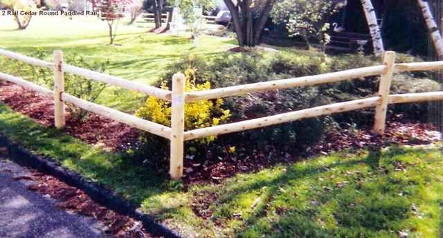 2 Rail Round Rail Post And Rail Fence Wood Fence