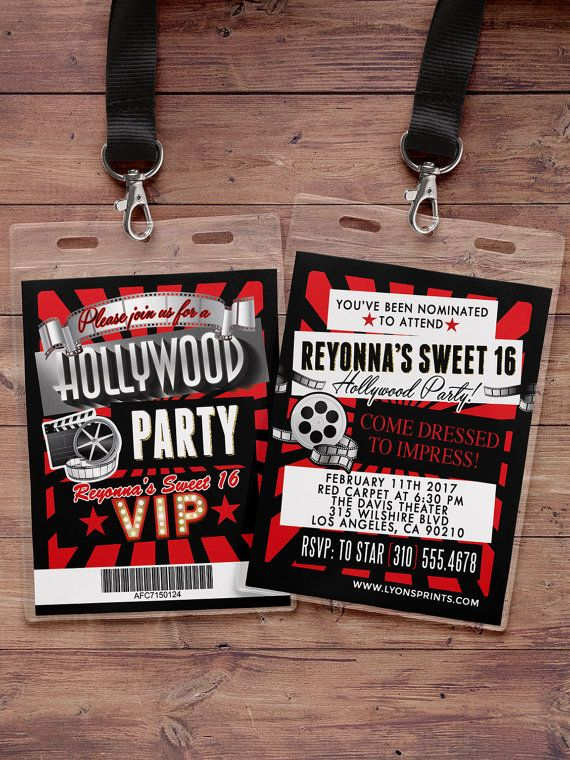 Toll Hollywood Cumpleaños Sweet 16 VIP PASS Pase Backstage