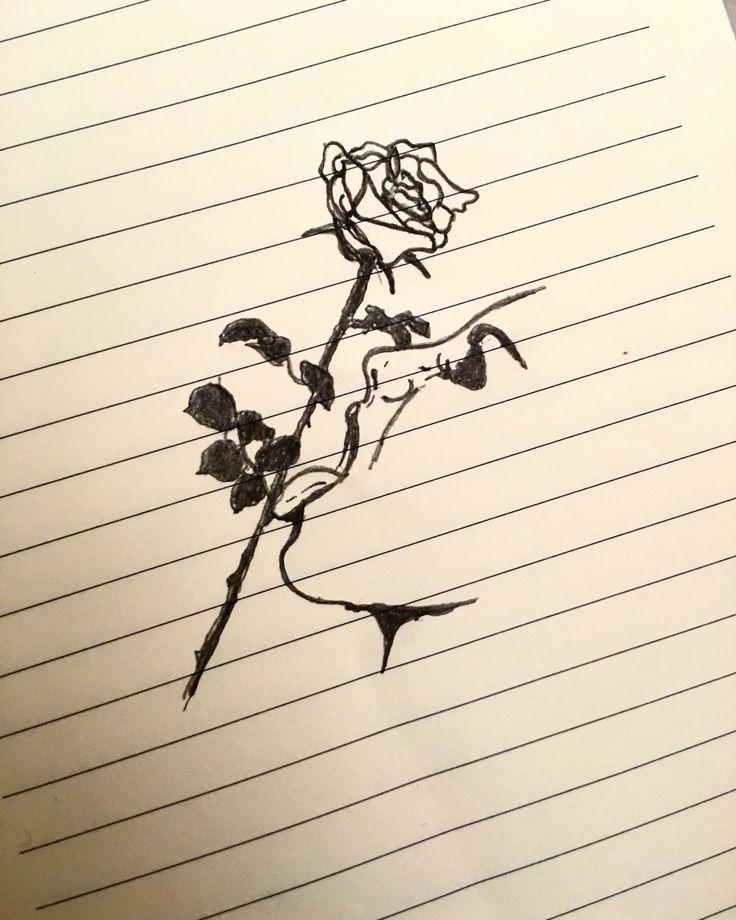 Rose girl sketch