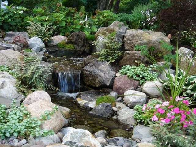 12 best images about backyard landscape designs rochester for Waterfall installation