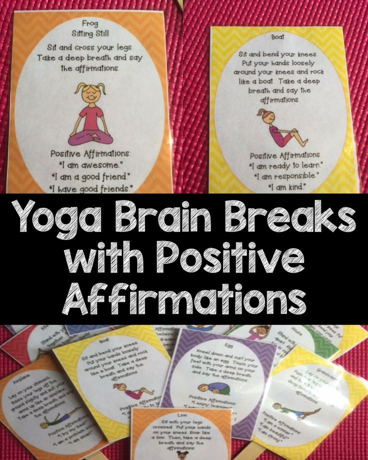 Yoga Brain Breaks are a relaxing brain break that will help your students refocus and increase their confidence with positive affirmations!