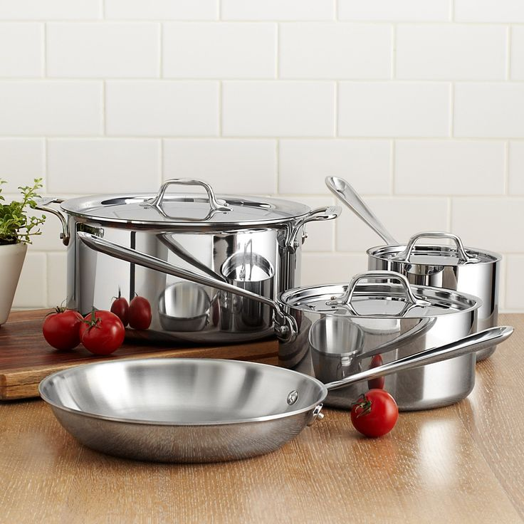 All-Clad Stainless Steel 7 Piece Cookware Set   Bloomingdale's