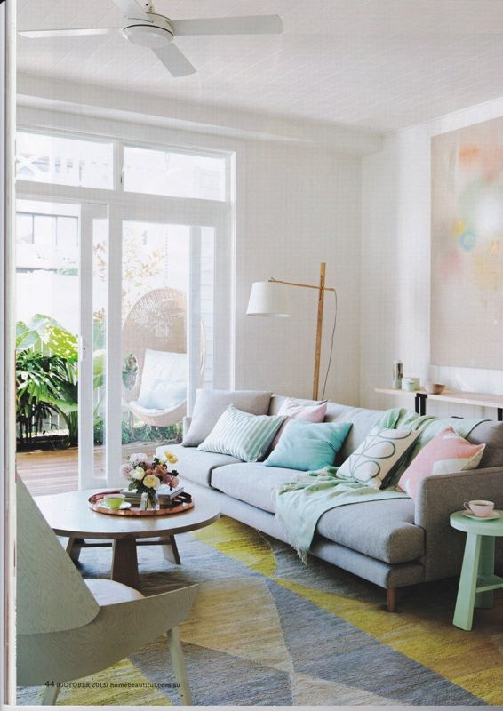 Home Beautiful Magazine Pastel Interior