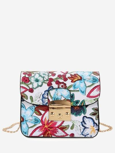 SHARE & Get it FREE | Floral Chain Mini Crossbody Bag - WhiteFor Fashion Lovers only:80,000+ Items • New Arrivals Daily Join Zaful: Get YOUR $50 NOW!