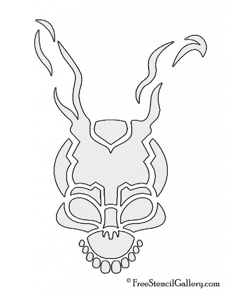 Free Stencil Gallery | Donnie Darko Frank the Rabbit Stencil