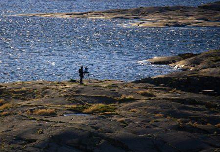 Ålands skärgård vackert och blåsigt - Fotosidan