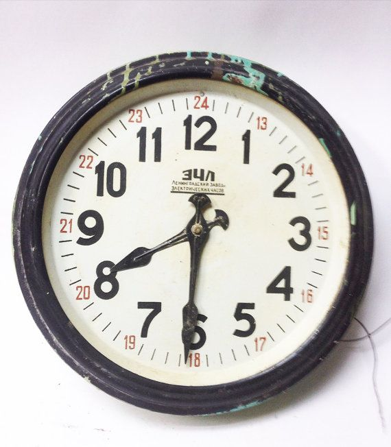 Amazing Soviet Vintage Industrial Clock Salvaged by SovietHardware