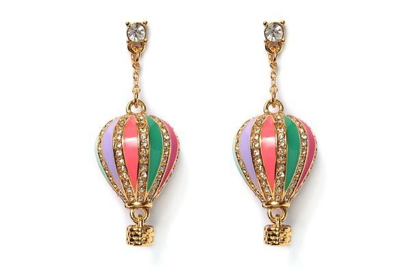 Up Up and Away (Hot Air Balloon) Drop Earrings by Kate ...