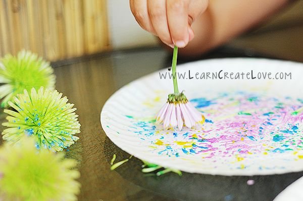 painting with flowers. Would be really cool to try this on a mug or dish at YouMadeIt :)