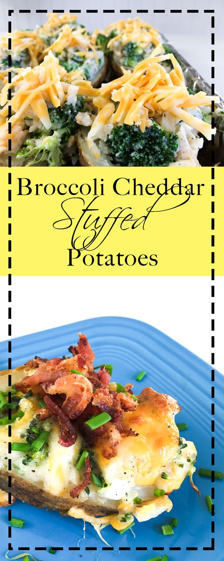 Twice baked potatoes get a healthy upgrade. These are loaded with veggies and flavor and pair perfectly with a salad for dinner.