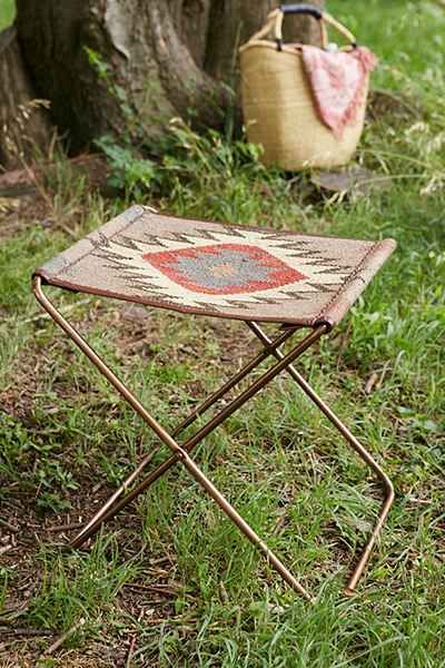 Tabouret à sangle repliable en kilim - Urban Outfitters